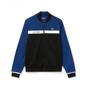 Mens SPORT Colorblock Zip Pique Tennis Sweatshirt