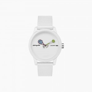 Unisex Lacoste x Jeremyville 12.12 Two Hands Watch