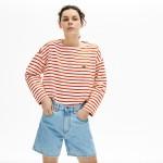 Womens Cotton Nautical Striped T-Shirt