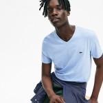 Men's Regular Fit V-neck Stripe Pima Cotton T-shirt