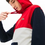 Men's Relaxed Fit Colorblock Hooded T-shirt