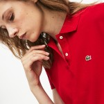 Womens Classic Fit Soft Cotton Petit Pique Polo Shirt