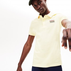 Mens Slim Fit Cotton Petit Pique Polo