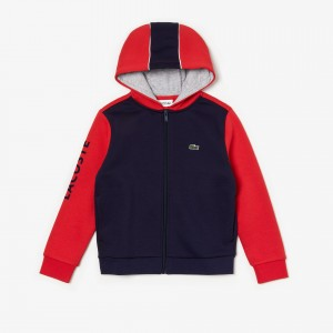 Boys SPORT Hooded Two-Tone Fleece Sweatshirt