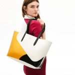 Womens Anna Reversible Color Blocked Coated Canvas Tote Bag
