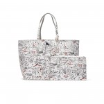 Womens Anna Reversible Bicolor Egyptian Print Tote Bag