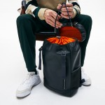 Mens Altitude Grained Leather Flap Backpack