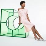 Womens Fashion Show Asymmetrical Pique Polo Dress