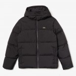 Mens Detachable Hood Quilted Water-Resistant Taffeta Jacket