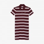 Womens Striped Stretch Cotton Polo Dress