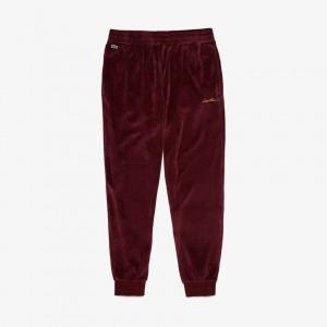 Mens LIVE Golden Signature Velvet Sweatpants