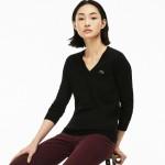 Womens V-neck Jersey Sweater