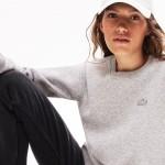 Womens LIVE Velvet-Croc Logo Fleece Sweatshirt