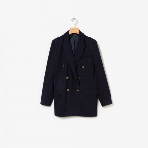 Womens Oversized Double-Breasted Blazer