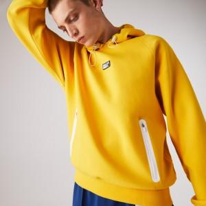 Mens Zip Pocket Hooded Sweatshirt With Badge