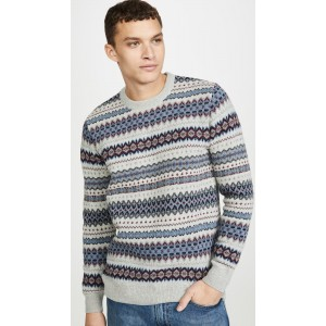 Long Sleeve Case Fair Isle Crew Neck Sweater