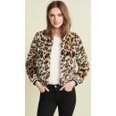 Jack by BB Dakota Clever Girl Leopard Faux Fur Bomber