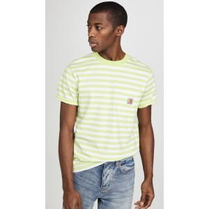 Scotty Short Sleeve Striped Pocket Tee