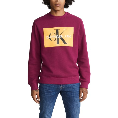 켈빈클라인 EDI Box Monogram Crew Neck Sweatshirt