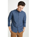 Long Sleeve Barrel Cuff Slub Poplin Shirt