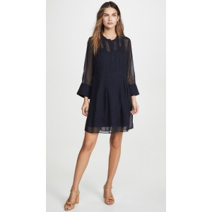 Pintuck Long Sleeve Dress