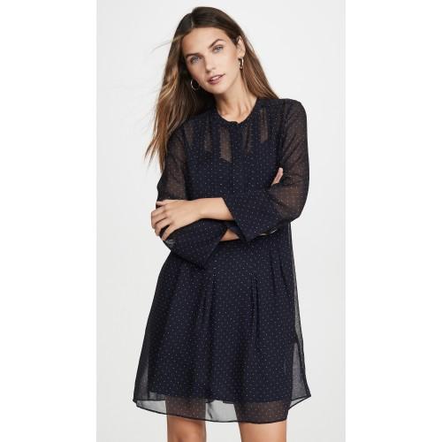 클럽모나코 Pintuck Long Sleeve Dress