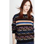 Rainbow Horse and Carriage Crew Neck Sweater