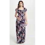 Off Shoulder Smocked Maternity Maxi Dress