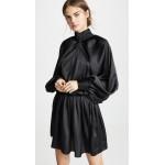 Satin Windbreaker Mini Dress