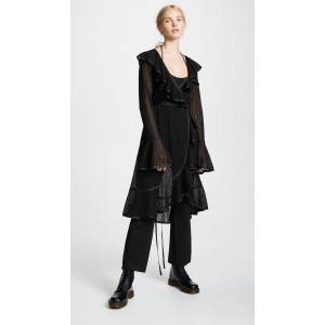 Redux Grunge Ruffle Dress with Jumpsuit Lining