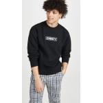 Obey Enigma Embroidered Crew Neck Sweatshirt