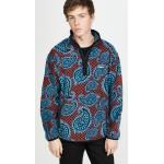 Paisley Mock Neck Fleece Pullover