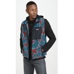 Paisley Mock Neck Fleece Vest