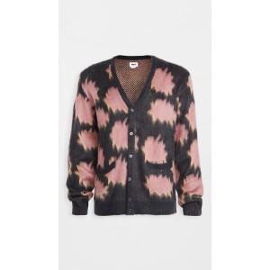 Pattern + Brushed Face Sweater Cardigan