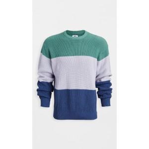 Colorblock Crew Neck Sweater