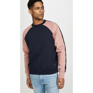 Sweatshirt with Contrast Sleeves