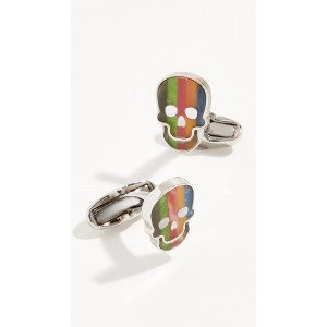 Stripe Skull Cufflinks