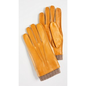 Deerskin Gloves with Knit Cuffs