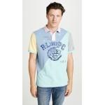 Short Sleeve Patchwork Polo Shirt