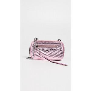 Chevron Double Zip Crossbody Bag