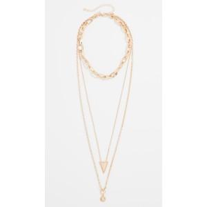 Bead Edge Medallion Layered Necklace