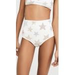 Studded Stars High Waist Bikini Bottom
