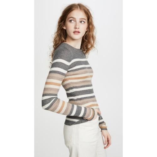 띠어리 Stripe Crew Cashmere Sweater