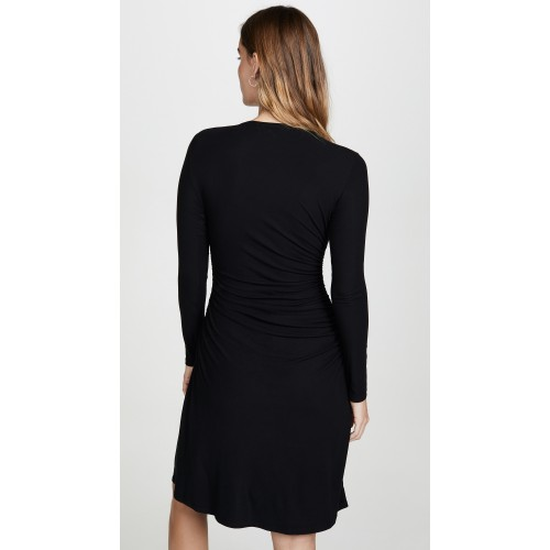 띠어리 Long Sleeve Gathered Waist Dress