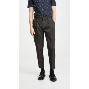 Page Pleated Twill Trousers