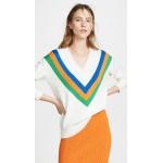 Colorblock V Sweater