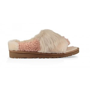 UGG Womens Patchwork Fluff Slide