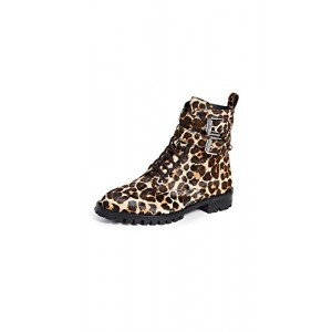 Rebecca Minkoff Women's Jaiden Leopard Combat Boots