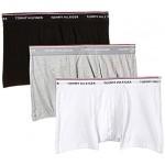 Tommy Hilfiger 3-Pack Premium Men's Boxer Trunks, Black/White/Grey