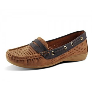 Jabasic Women Classic Tie Driver Moccasins Boat Shoes Slip On Flats Loafers